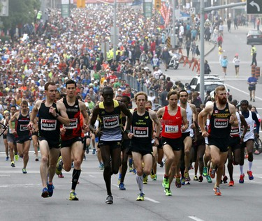 The start of the Scotiabank Ottawa Marathon on Sunday May 25, 2014. Errol McGihon/Ottawa Sun/QMI Agency