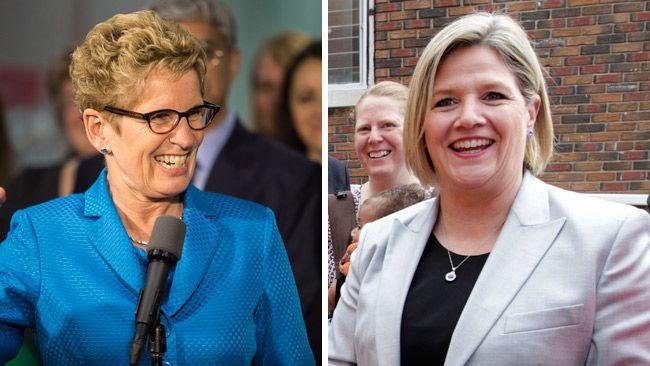 Liberal leader Kathleen Wynne and NDP leader Andrea Horwath. (QMI Agency file photos)