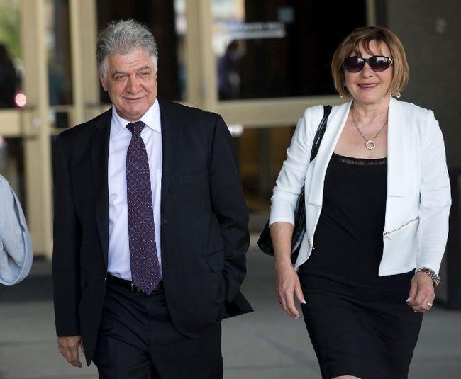 London mayor Joe Fontana is accompanied by his wife Vicky as he leaves the . DEREK RUTTAN/ The London Free Press /QMI AGENCY