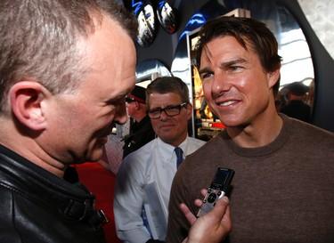 Tom Cruise in Toronto for the city's premiere of Edge of Tomorrow on Thursday. (CRAIG ROBERTSON/Toronto Sun)