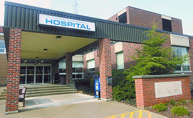Tillsonburg District Memorial Hospital. FILE PHOTO