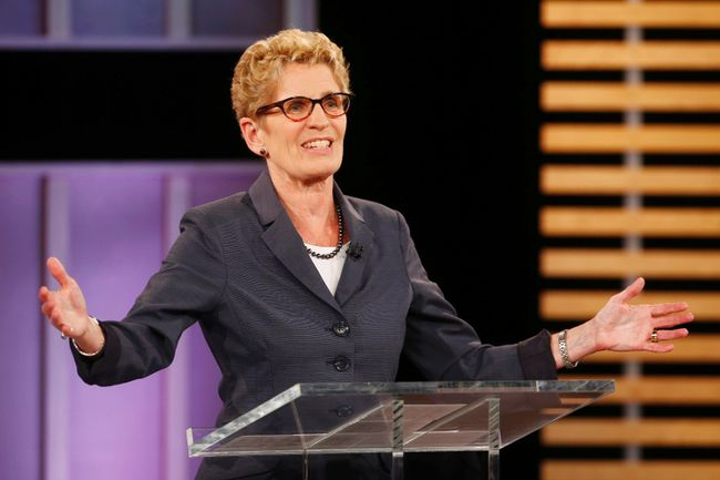 Liberal leader Kathleen Wynne at Tuesday's debate. (REUTERS)