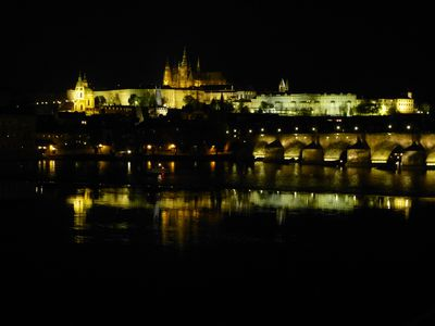 A night view of the enormous Prague Castle complex. ROBIN ROBINSON/TORONTO SUN
