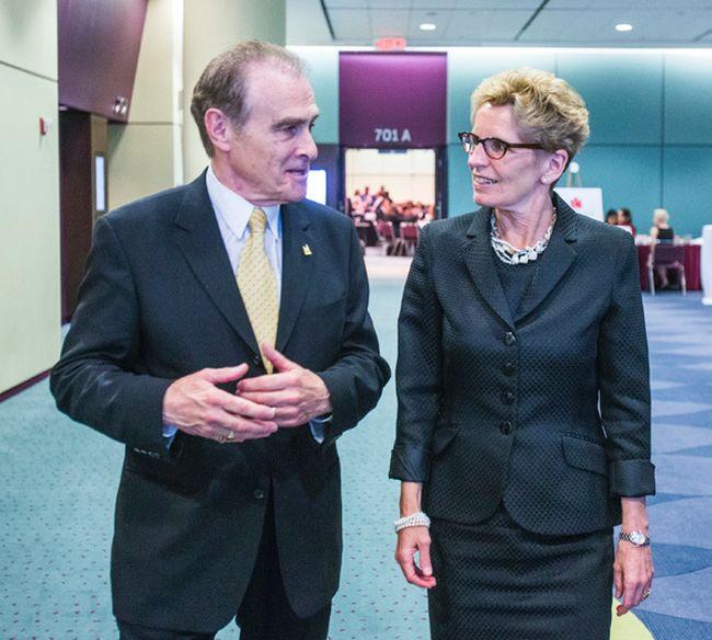 Deputy Mayor Norm Kelly and Premier Kathleen Wynne. (ERNEST DOROSZUK, Toronto Sun)