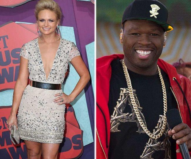 (L-R) Miranda Lambert and 50 Cent. (WENN.COM/REUTERS)