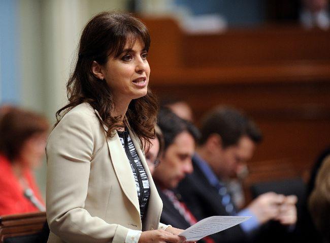 Véronique Hivon speaks in parliament on June 4, 2014. (SIMON CLARK/QMI AGENCY)