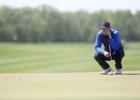 Josh Wytinck at Southwood Golf Course competing in University Golf. Friday, June 6, 2014.   Chris Procaylo/Winnipeg Sun/QMI Agency
