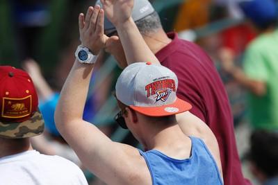 An Edmonton fan applauds the team's win during an NASL soccer game between FC Edmonton and the Carolina RailHawks at Clarke Stadium in Edmonton, Alta., Sunday June 8, 2014. Final score was 6-1 for the Eddies. Ian Kucerak/Edmonton Sun/QMI Agency