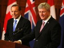 Stephen Harper andTony Abbott