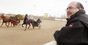 Frank Fontana, freelance horse prognosticator is seen at Northlands Park  in Edmonton on Wednesday January, 11, 2012. TOM BRAID/EDMONTON SUN  QMI AGENCY