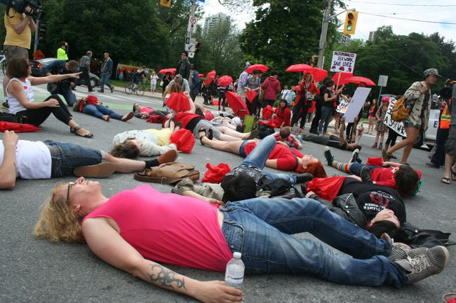 Toronto sex workers protest new prostitution legislation