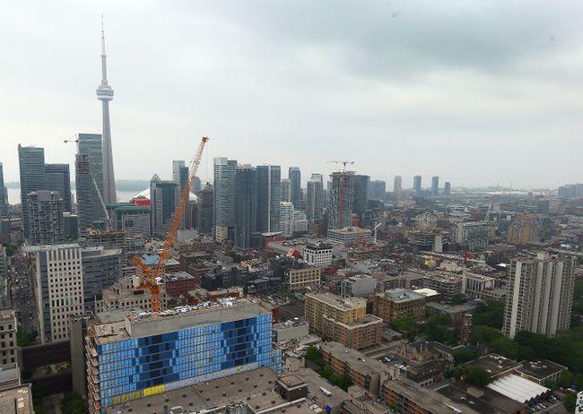 Construction projects fill the Toronto skyline June 13, 2014. (Dave Abel/Toronto Sun)
