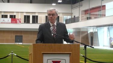 The ribbon was cut on the University of Winnipeg's $40-million United Health and RecPlex June 17, 2014. Premier Greg Selinger spoke at the debut event. (JIM BENDER/Winnipeg Sun)