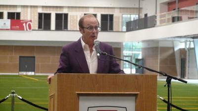 The ribbon was cut on the University of Winnipeg's $40-million United Health and RecPlex June 17, 2014. Mayor Sam Katz spoke at the debut event. (JIM BENDER/Winnipeg Sun)
