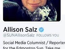 Allison Salz's Verified by Twitter checkmark.