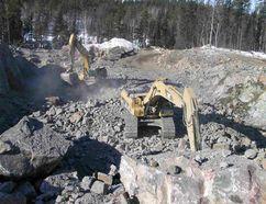 Wallbridge Mining photo The Broken Hammer Mine, an former open pit operated in Sudbury by Wallbridge Mining.