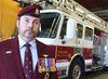 Rick Kurelo, photographed in an Oshawa Fire station on June 26, 2014, has written a book called Firefight. (Veronica Henri/Toronto Sun)