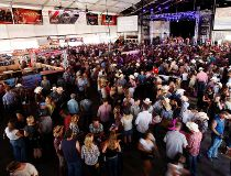 Cowboys Tent crowd shot 2014 Stampede