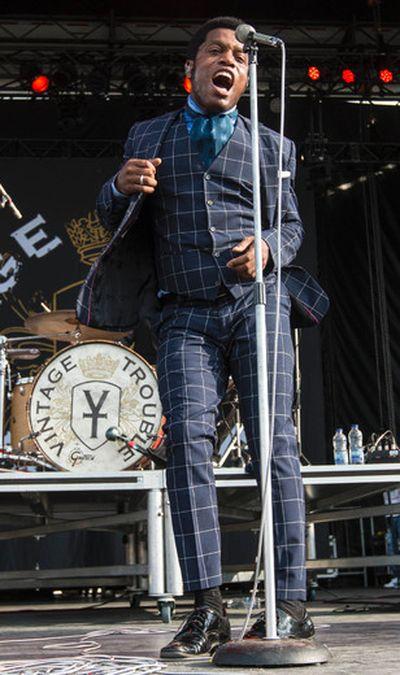 Vintage Trouble front man Ty Taylor performing at Bluesfest on Sunday July 6, 2014. Errol McGihon/Ottawa Sun/QMI Agency