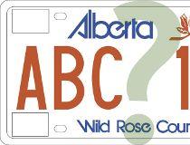 Alberta licence plates