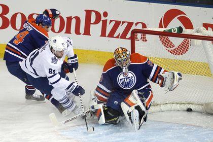 Edmonton Oilers goaltender Richard Bachman