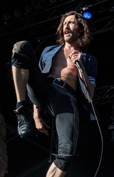 Eugene Hutz of Gogol Bordello performing at Bluesfest in Ottawa on Thursday July 10, 2014. Errol McGihon/Ottawa Sun/QMI Agency