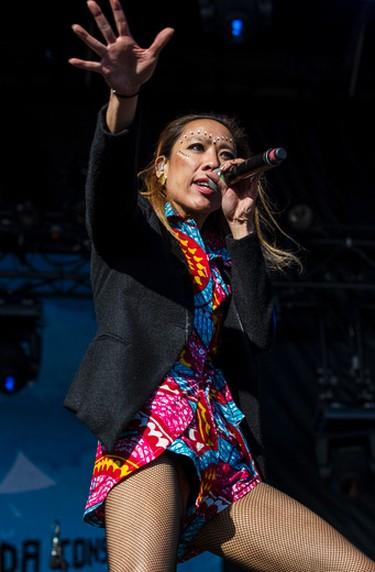 Elizabeth Sun of Gogol Bordello performing at Bluesfest in Ottawa on Thursday July 10, 2014. Errol McGihon/Ottawa Sun/QMI Agency