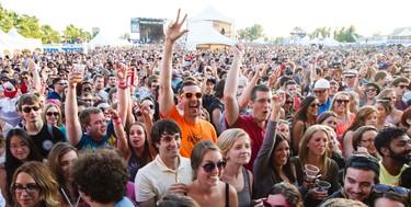 Fans enjoying Third Eye Blind performing at Bluesfest in Ottawa on Thursday July 11, 2014. Errol McGihon/Ottawa Sun/QMI Agency