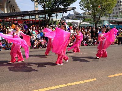 Tons of colour and activity makes its way through the 2014 K-Days parade in downtown Edmonton. K-Days runs from July 18 to 27, 2014. Ian Kucerak/Edmonton Sun/QMI Agency