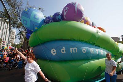 The City of Edmonton's float is seen during the K-Days Parade in downtown Edmonton, Alta., on Friday, July 18, 2014. The fair runs at Northlands until July 27. Ian Kucerak/Edmonton Sun/QMI Agency