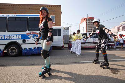 during the K-Days Parade in downtown Edmonton, Alta., on Friday, July 18, 2014. The fair runs at Northlands until July 27. Ian Kucerak/Edmonton Sun/QMI Agency