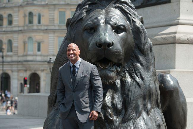 Dwayne Johnson pictures in 'Hercules' Photocall held on Trafalgar Square. Daniel Deme/WENN.com