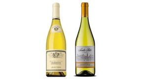 Maison Louis Jadot 2012 Bourgogne Chardonnay (left) and Viña Santa Rita 2012 Reserva Chardonnay. (Supplied)