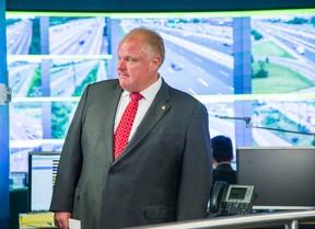 Toronto Mayor Rob Ford at the Transportation Operation Centre in Toronto on Wednesday, July 23, 2014. (Ernest Doroszuk/Toronto Sun)