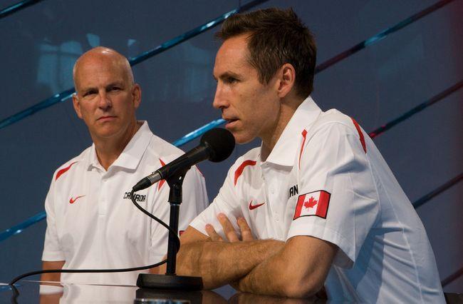 Canadian basketball GM Steve Nash (right) and coach Jay Triano. (Jack Boland, Toronto Sun)
