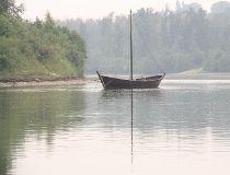 The Fort Edmonton York boat.