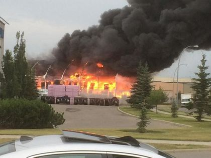 Fire in S.E. Calgary