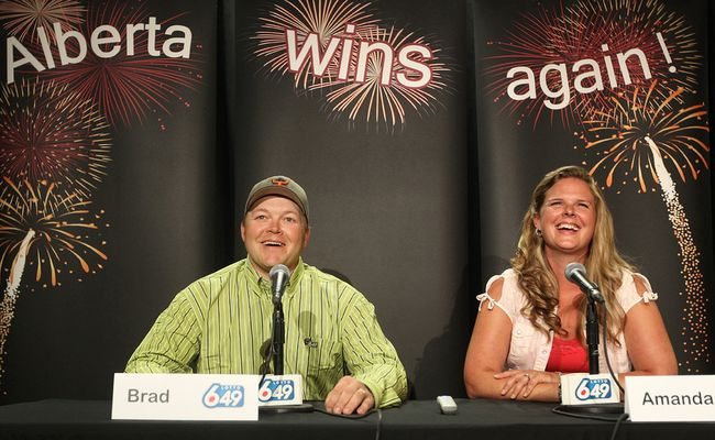 Alberta couple wins $18.4 million in Lotto 649 draw