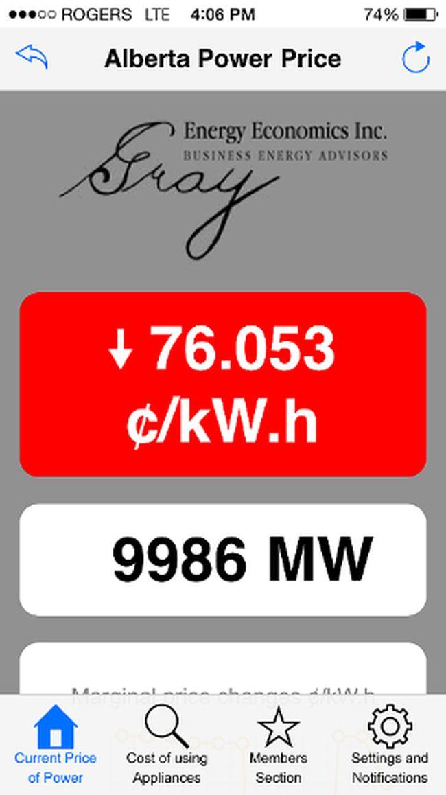 App tracks Alberta energy prices