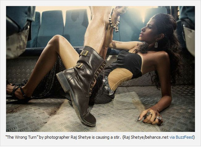 """The Wrong Turn"" by photographer Raj Shetye is causing a stir. (Raj Shetye/behance.net via Buzzfeed)"