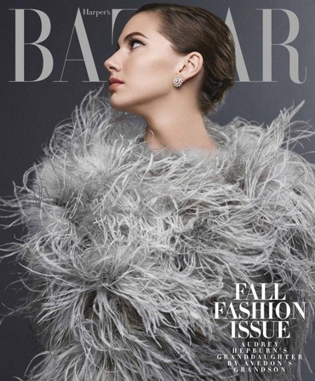 Audrey Hepburn's granddaughter, Emma Ferrer poses for Harper's Bazaar. (Harper's Bazaar)