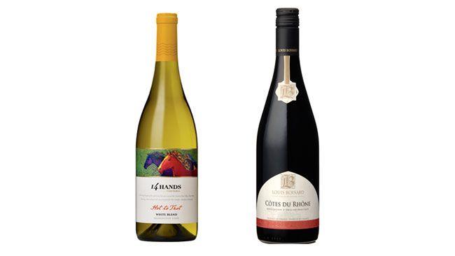 14 Hands Vineyards 2012 Hot to Trot White Blend and Louis Bernard 2012 Côtes du Rhône Rouge Rhône Valley (Supplied)