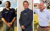 London mayoral candidates, from left, Roger Caranci, Joe Swan and Matt Brown.