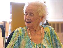 Maria Govaerts celebrated her 100th birthday on Friday, August 15, 2014, at Caressant Care in Courtland. CHRIS ABBOTT/TILLSONBURG NEWS