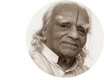 A screengrab of yoga guru BKS Iyengar's website. (http://bksiyengar.com photo)