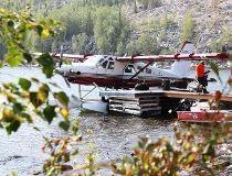 Waugh Summit Air's de Havilland Beaver bush plane at the Yellow Dog dock. (SUPPLIED)
