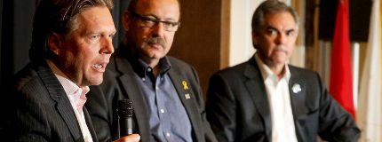 Tory leadership candidates Thomas Lukazsuk Ric McIver Jim Prentice