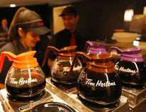Tim Horton's coffee pots. REUTERS/Peter Jones/Files