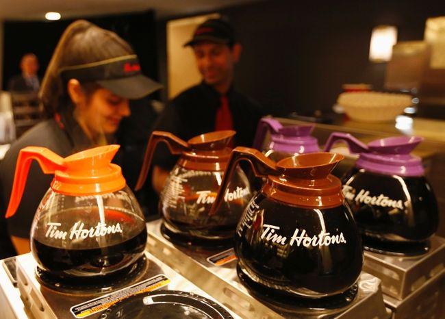 Tim Horton's coffee pots (REUTERS/Peter Jones/Files)