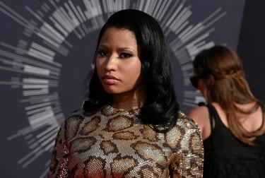 Nicki Minaj arrives at the 2014 MTV Video Music Awards in Inglewood, California August 24, 2014.   REUTERS/Kevork Djansezian(UNITED STATES - Tags: ENTERTAINMENT)(MTV-ARRIVALS)